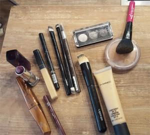 Benutztes Makeup