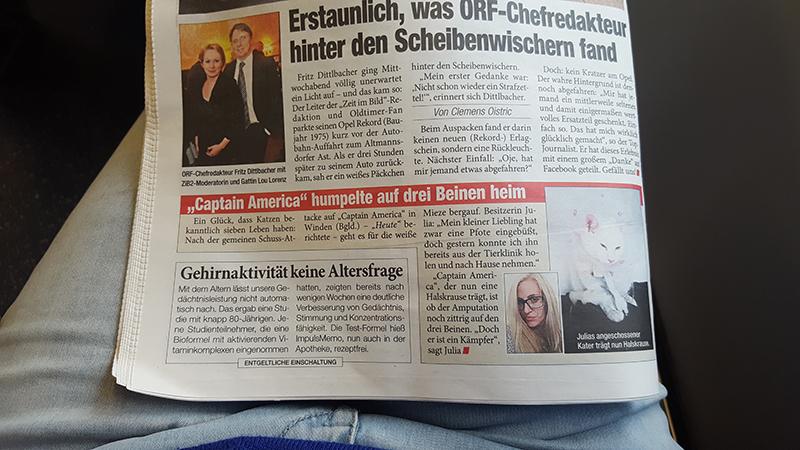 Bericht in der Zeitung