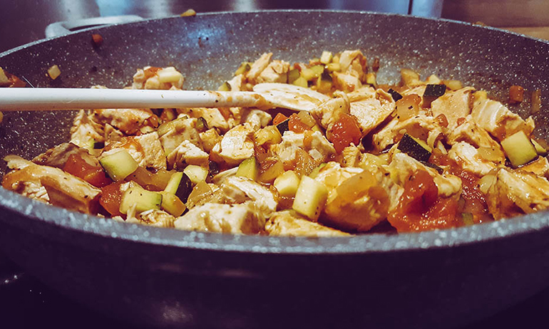 Hühnchen-Gemüse-Pasta