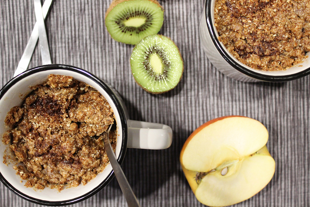 Kiwi Apfel Crumble