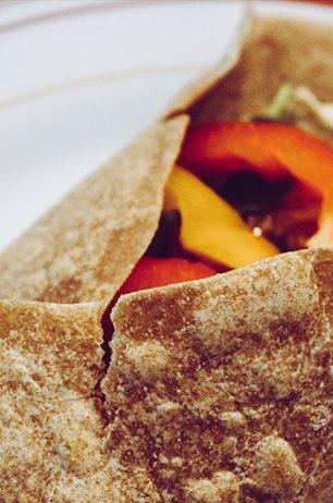 Chicken Burrito mit selbstgemachten Tortilla